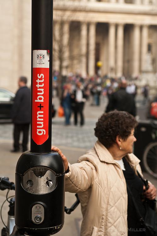 Gum+Butts sign, London, England.