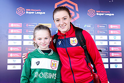 Bristol City Women mascot with Sophie Baggaley of Bristol City - Mandatory by-line: Robbie Stephenson/JMP - 24/03/2019 - FOOTBALL - Stoke Gifford Stadium - Bristol, England - Bristol City Women v Everton Ladies - FA Women's Super League