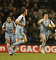Photo: Aidan Ellis.<br /> Manchester City v Tottenham Hotspur. The Barclays Premiership. 17/12/2006.<br /> City's Joey Barton celebrates scoring his teams first goal