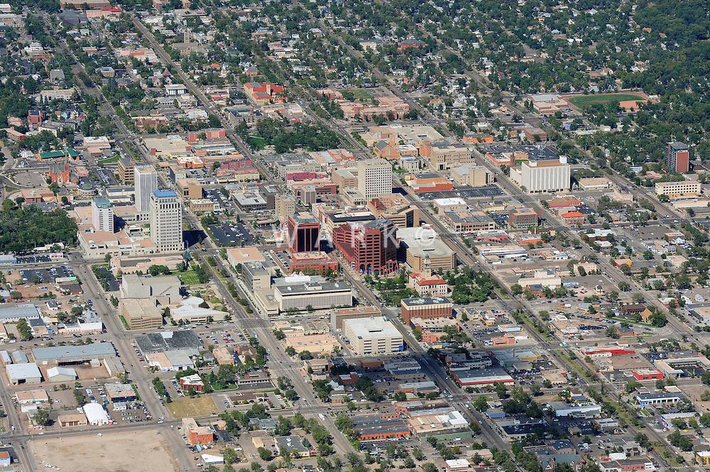 aerial of Colorado Springs, CO