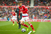 Middlesbrough midfielder Gaston Ramirez (21) in action  during the Premier League match between Middlesbrough and Manchester United at the Riverside Stadium, Middlesbrough, England on 19 March 2017. Photo by Simon Davies.