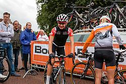Rider of Velocio - Sram after the sign-on at the Holland Ladies Tour, Zeddam, Gelderland, The Netherlands, 1 September 2015.<br /> Photo: Pim Nijland / PelotonPhotos.com