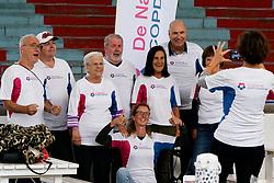28-09-2019 NED: Finale Nationale Diabetes Challenge, Den Haag<br /> Diverse gezondheidscentra, huisartsenpraktijken en fysiotherapie praktijken zijn met ondersteuning van de BvdGF gestart met een lokale wandel challenge. De grote finale vondt plaats in de Uithof in Den Haag.