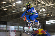 #93 (STEVAUX CARNAVAL Pricilla) BRA at the 2014 UCI BMX Supercross World Cup in Manchester.