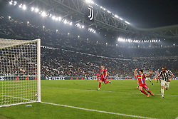 October 25, 2017 - Turin, Italy - Gonzalo Higuain (Juventus FC) scores  goal subsequently annulled by the referee during  the Serie A football match between Juventus FC and S.P.A.L. 2013 on 25 October 2017 at Allianz Stadium in Turin, Italy. (Credit Image: © Massimiliano Ferraro/NurPhoto via ZUMA Press)