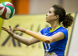 Lena Gabrscek of Slovenia during friendly Sitting Volleyball match between National teams of Slovenia and China, on October 22, 2017 in Sempeter pri Zalcu, Slovenia. (Photo by Vid Ponikvar / Sportida)