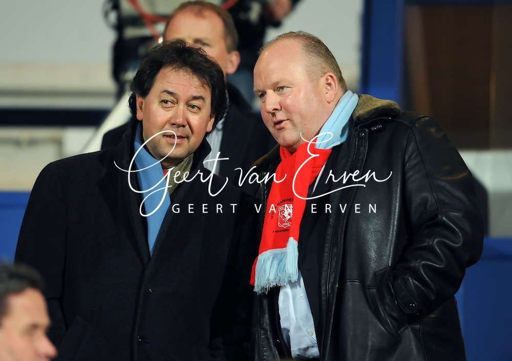 14-03-2009 Voetbal:Willem II:FC Twente:Tilburg<br /> Voorzitter Joop Munsterman van FC Twente <br /> Foto: Geert van Erven