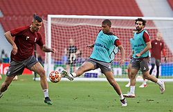 MADRID, SPAIN - Friday, May 31, 2019: Liverpool's Rhian Brewster during a training session ahead of the UEFA Champions League Final match between Tottenham Hotspur FC and Liverpool FC at the Estadio Metropolitano. (Pic by David Rawcliffe/Propaganda)