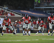 Mississippi offensive lineman Justin Bell (68) vs. Southeast Missouri State at Vaught-Hemingway Stadium in Oxford, Miss. on Saturday, September 7, 2013.Ole Miss won 31-13.