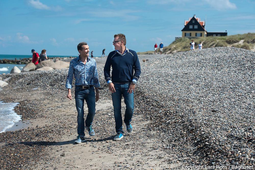 Sommer i Skagen Ole Henriksen og hans mand Laurence Roberts <br />  14.07.14<br /> Foto:  Lars Horn / Baghuset