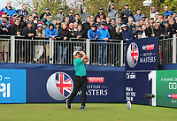 Golf - 2018 Sky Sports British Masters - Thursday, First Round<br /> <br /> Francesco Molinari of Italy tees off at the first hole, at Walton Heath Golf Club.<br /> <br /> COLORSPORT/ANDREW COWIE