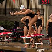 15 October 2015 - The San Diego State Aztecs Women's Swim & Dive Team took on Oregon State and Vanderbilt at the Aztec Aquaplex. 200 yard Medley Relay Heat 1Lane 7