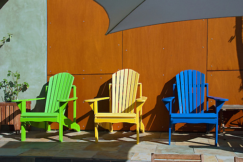 Adirondack Chairs, Muskoka Chair Colorful, Green, Yellow, Blue