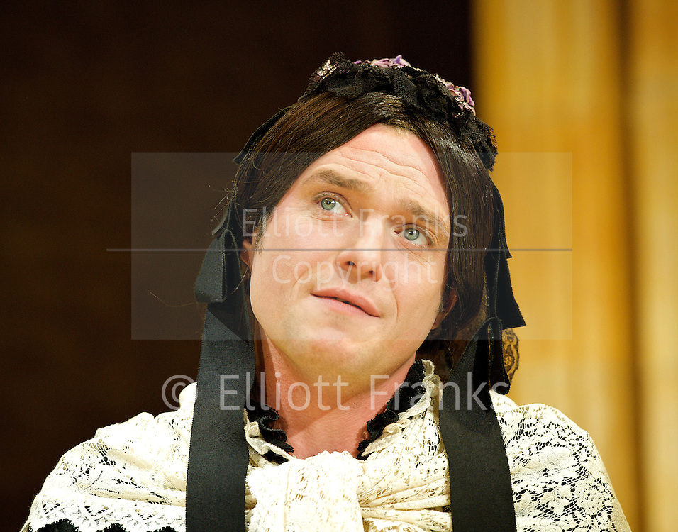 Charley's Aunt <br /> by Brandon Thomas <br /> directed by Ian Talbot <br /> at The Menier Chocolate Factory, London, Great Britain <br /> 27th September 2012 <br /> Press photocall<br /> <br /> Matthew Horne as Lord Fancourt Babberley <br /> <br /> Normn Pace as Stephen Spettigue<br /> <br /> Jane Asher as Donna Lucia D'Alvadorez<br /> <br /> Charlie Clemmow as Ela Delahay <br /> <br /> Steven Pacey as Col Sir Francis Chesney <br /> <br /> <br /> Photograph by Elliott Franks