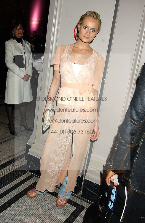 KALITA AL-SWAIDI at a fashion show and after party to celebrate the 20th Anniversay of fashion designer Ozwald Boateng held at the Victoria & Albert Museum, London on 25th November 2005.<br />