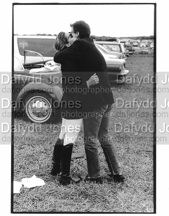 Kelly and Calvin Klein. Bridgehampton Horse Show. 1989. © Copyright Photograph by Dafydd Jones 66 Stockwell Park Rd. London SW9 0DA Tel 020 7733 0108 www.dafjones.com
