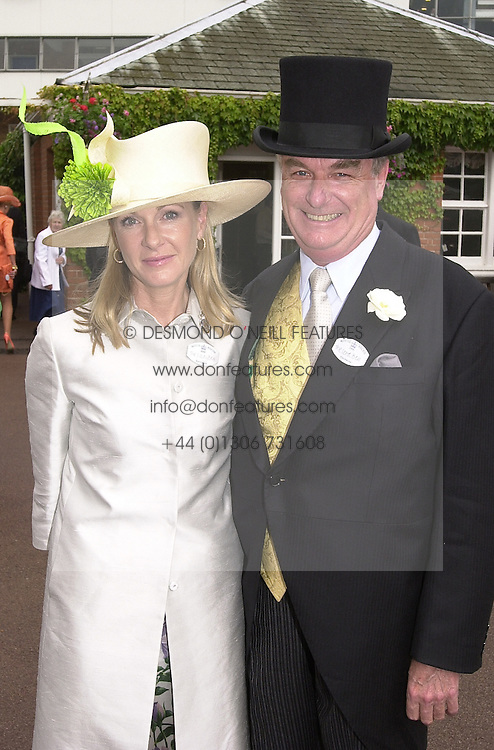 LORD & LADY BELL at Royal Ascot on 20th June 2000.<br /> OFN 101<br /> © Desmond O'Neill Features:- 020 8971 9600<br />    10 Victoria Mews, London.  SW18 3PY <br /> www.donfeatures.com   photos@donfeatures.com<br /> MINIMUM REPRODUCTION FEE AS AGREED.<br /> PHOTOGRAPH BY DOMINIC O'NEILL