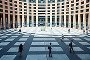 Strasbourg 02 July 2014 <br /> <br /> Views inside the European Parliament in Strasbourg<br /> Pix : ...<br /> <br /> Crédit Sébastien Pirlet / Isopix