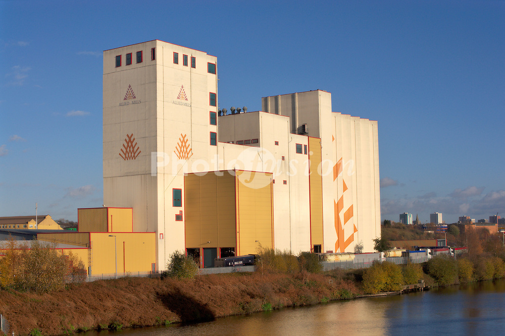 Allied Mills flour mill; part of Associated British Foods PLC; Trafford Park; Manchester UK