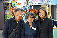 From left, José Ortiz, Judy Sulsona and Marie Glavin at the December 5th, 2017 opening of the Stories from Salinas exhibition at the CSUMB Salinas Center for Arts and Culture in Oldtown. The exhibition celebrates the mentors, youth and families of the Salinas Youth Initiative.