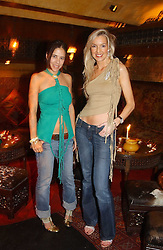 Left to right, designer BARBARA HOROWITZ and MISS VANESSA SCOTT at a party to launch Riggid - T-shirt Couture held at Momo's Kemia Bar, 25 Heddon Street, London W1 on 18th November 2004.<br /><br />NON EXCLUSIVE - WORLD RIGHTS