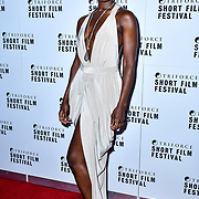 Adele Oni attend TriForce Short Festival, on 30 November 2019, at BFI Southbank, London