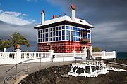 The Blue House, Casa Juanita, Arrieta, Lanzarote, Canary Islands, Spain built in 1916