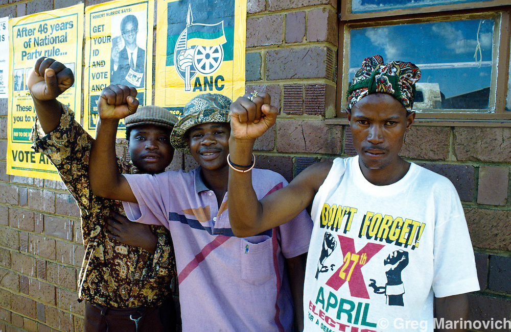 ANC supporters, Soweto, South Africa. 1991-3