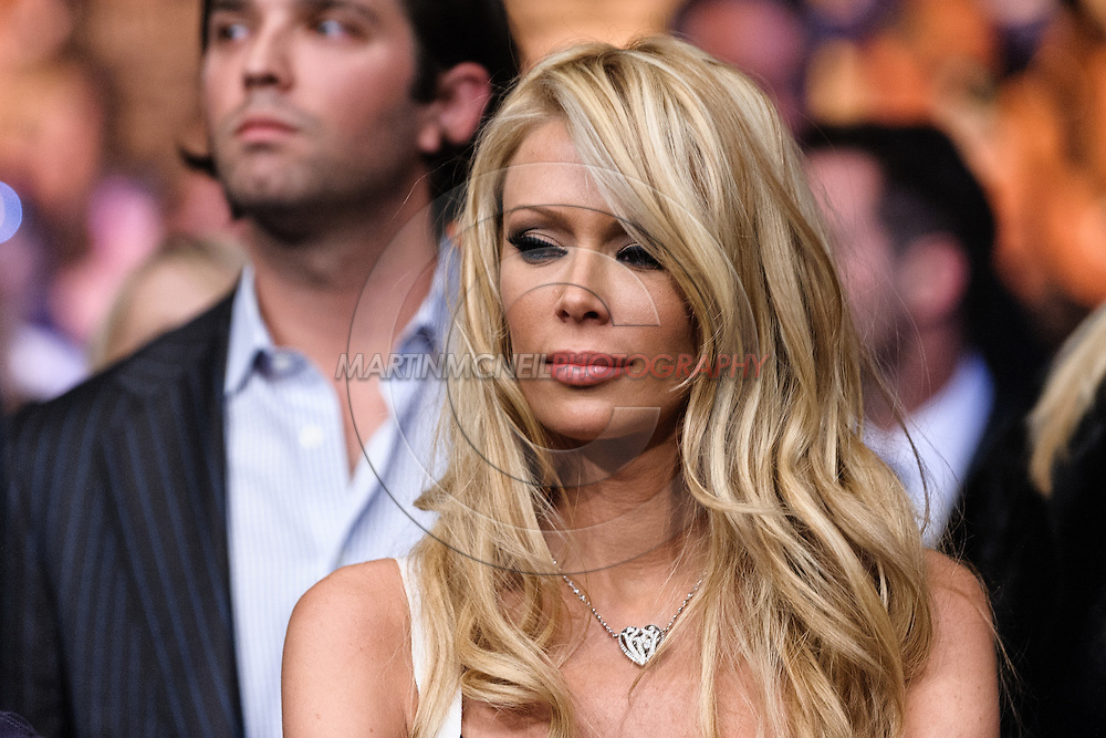 """LAS VEGAS, NEVADA, MAY 24, 2008: Adult entertainment actress Jenna Jameson, wife of Tito Ortiz (not pictured), is pictured in the crowd after Ortiz' loss at """"UFC 84: Ill Will"""" inside the MGM Grand Garden Arena in Las Vegas"""