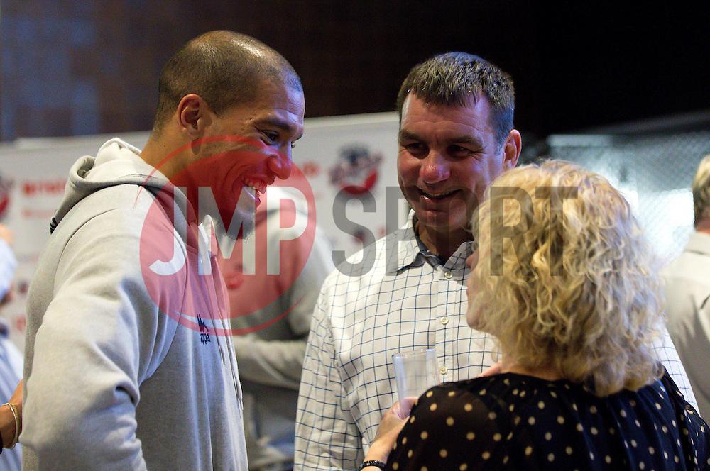 Greg Streete of Bristol Flyers chats with guests - Mandatory by-line: Robbie Stephenson/JMP - 12/09/2016 - BASKETBALL - Ashton Gate Stadium - Bristol, England - Bristol Flyers Sponsors Event