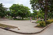 Park in San Andres, Holguin, Cuba.