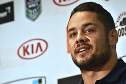 October 26, 2016 - Auckland, Auckland, New Zealand - Jarryd Hayne speaks to the media during  a media conference in Auckland, New Zealand. Jarryd Hayne is a world class international NRL player. He is announcing he is playing the Downer NRL Auckland Nines next year (Credit Image: © Shirley Kwok/Pacific Press via ZUMA Wire)