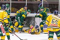 2020-01-15 | Umeå, Sweden: Rumble on the ice in HockeyAllsvenskan during the game  between Björklöven and Södertälje at A3 Arena ( Photo by: Michael Lundström | Swe Press Photo )<br /> <br /> Keywords: Umeå, Hockey, HockeyAllsvenskan, A3 Arena, Björklöven, Södertälje, mlbs200115