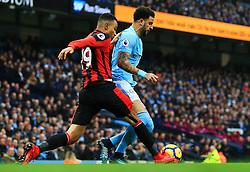 Junior Stanislas of Bournemouth tackles Kyle Walker of Manchester City - Mandatory by-line: Matt McNulty/JMP - 23/12/2017 - FOOTBALL - Etihad Stadium - Manchester, England - Manchester City v Bournemouth - Premier League