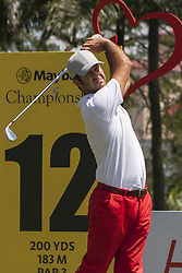February 3, 2018 - Shah Alam, Kuala Lumpur, Malaysia - Jorge Campillo is seen taking a shot from hole no 12 on day 3 at the Maybank Championship 2018...The Maybank Championship 2018 golf event is being hosted on 1st to 4th February at Saujana Golf & Country Club. (Credit Image: © Faris Hadziq/SOPA via ZUMA Wire)