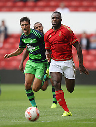 Michail Antonio of Nottingham Forest (R) in action<br /> <br />  - Mandatory by-line: Jack Phillips/JMP - 25/07/2015 - SPORT - FOOTBALL - Nottingham - The City Ground - Nottingham Forest v Swansea - Pre-Season Friendly
