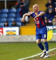 Photo: Chris Ratcliffe.<br />Crystal Palace v Wolverhampton Wanderers. Coca Cola Championship. 10/12/2005.<br />Andy Johnson, how much longer will he stay at Palace?