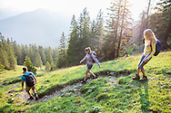 Hiking, Men, Women, Downhill, Footpath, Backpacker, Outdoor Pursuit,