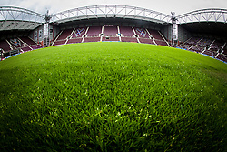 Tynecastle Stadium, home of Hearts FC.<br /> &copy;Michael Schofield.