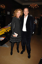 KELLY HOPPEN and GEORDIE GREIG at a party to celebrate the first year if ING's sponsorship of the Renault Formula 1 team, held at the Mayfair Hotel, Stratton Street, London W1 on 28th November 2007.<br />