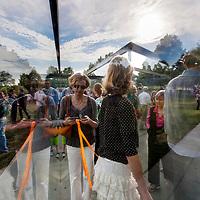 Glass Labyrinth art installation at Kansas City's Nelson Atkins Museum of Art.