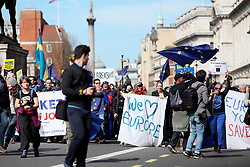 UK ENGLAND LONDON 25MAR17 - Thousands of protesters take part in the March for Europe in central London.<br /> <br /> jre/Photo by Jiri Rezac<br /> <br /> &copy; Jiri Rezac 2017