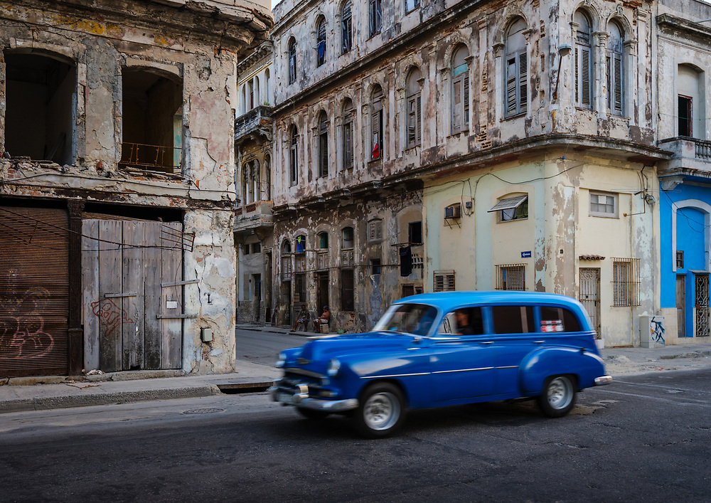 HAVANA, CUBA - CIRCA MAY 2017:  Old car in streets of Havana
