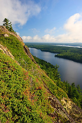 Echo Lake as seen from Beech Cliff in Maine's Acadia National Park.