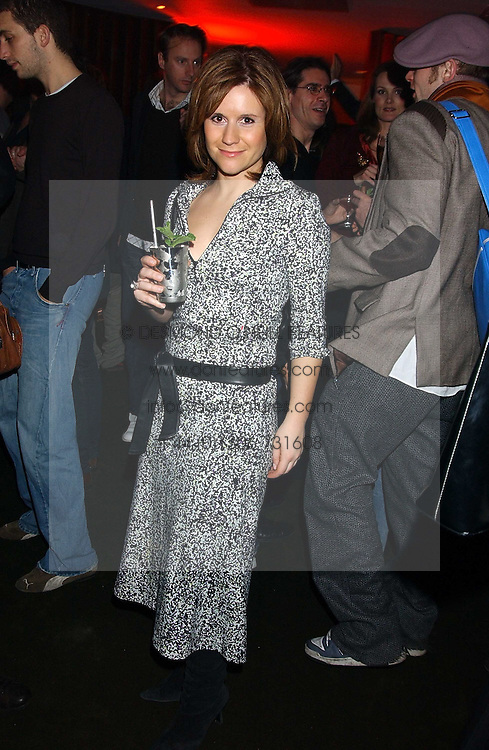 Radio presenter HARRIETT SCOTT  at the opening party for a new bowling alley All Star Lanes, at Victoria House, Bloomsbury Place, London on 19th January 2006.<br /><br />NON EXCLUSIVE - WORLD RIGHTS