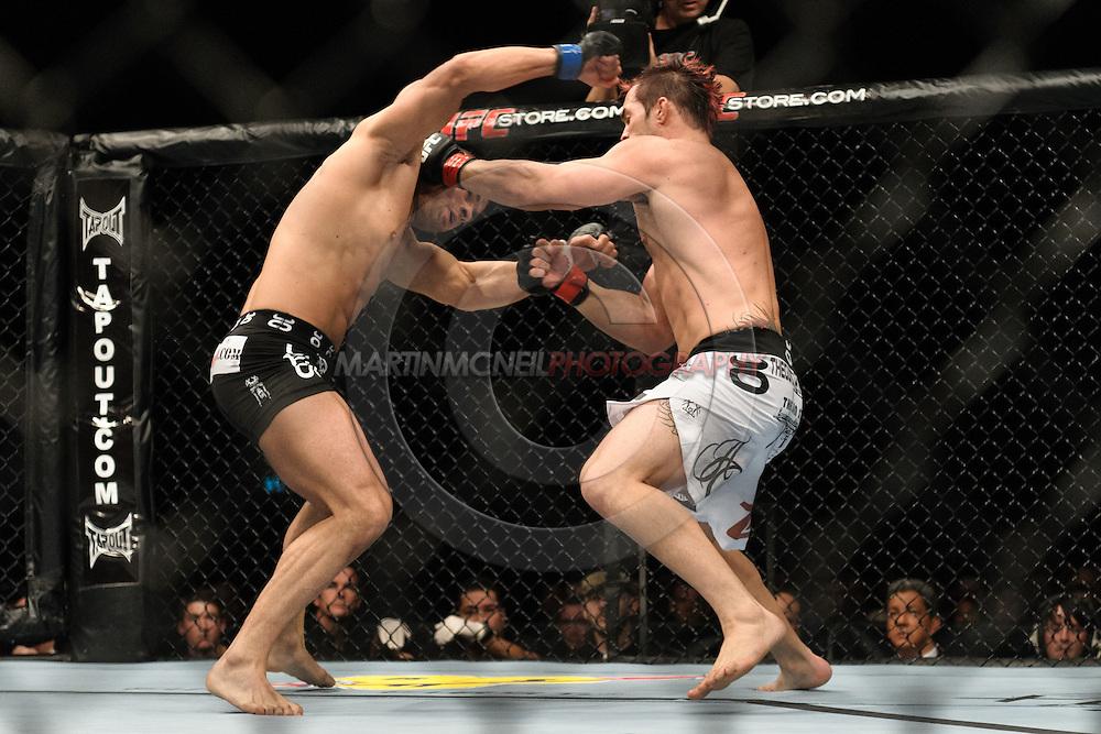OBERHAUSEN, GERMANY, NOVEMBER 13, 2010: Karlos Vemola and Seth Petruzelli during UFC 122 inside the Konig Pilsner Arena in Oberhausen, Germany.