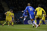 Gillingham FC midfielder Bradley Dack (23) scores a goal 1-1 during the EFL Sky Bet League 1 match between Gillingham and AFC Wimbledon at the MEMS Priestfield Stadium, Gillingham, England on 21 February 2017.
