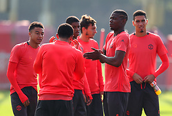 Paul Pogba of Manchester United and team mates - Mandatory by-line: Matt McNulty/JMP - 14/09/2016 - FOOTBALL - Manchester United - Training session ahead of Europa League Group A match against Feyenoord