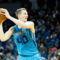 01 November 2015: Charlotte Hornets forward Cody Zeller (40) looks to pass the ball during the Atlanta Hawks 94-92 victory over the Charlotte Hornets, at the Time Warner Cable Arena, in Charlotte, North Carolina, USA.