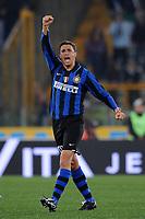 Fotball<br /> Italia<br /> Foto: Inside/Digitalsport<br /> NORWAY ONLY<br /> <br /> ESULTANZA CRESPO DOPO IL GOL<br /> <br /> 29.03.2008<br /> Lazio v Inter (1-1)